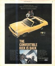 """(RST19) POSTER/ADVERT 13X11"""" FORD MUSTANG II CONVERTIBLE"""