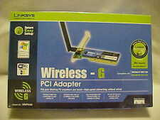 Linksys WMP54G (745883555031) PCI Adapter New Factory Sealed