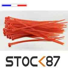2501R# attache câble type rilsan rouge 10cm de 20 à 100pcs