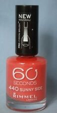 3 x BOTTLES RIMMEL 60 SECOND NAIL POLISH VARNISH # 440 SUNNY SIDE 12ml NEW