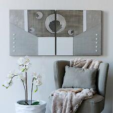 """CASABLANCA Deko Bild """"GALEXY""""  Holz/Acryl  weiß/silber/grau 60x60cm"""