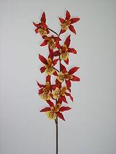 """Orchidee """"Cheshunt"""" braun/rot/gelb 97cm Kunstblumen Orchideen Dekoration"""