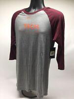 Nike Adult 3/4 Sleeve Raglan Virginia Tech Hokies Shirt Size Small New NWT