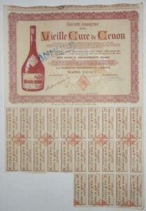 Action - Société Anonyme de la Vieille Cure de Cenon action de 2500 Fr N°019311