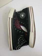 CONVERSE All Star Hi top Black Velvet Studded Shoes 141621C Mens 7 Womens 9