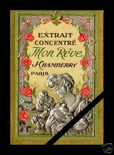 Antique French Perfume Label Embossed Art Nouveau Vintage J. Chamberry Mon Reve