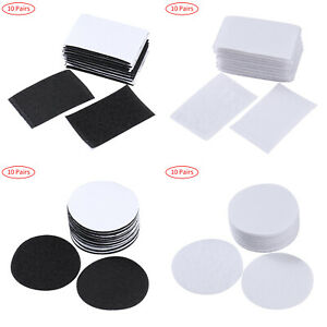 10 Pairs Self Adhesive Non-Slip Cushion Pad Hook Loop Tape Gripper Carpet Sofa