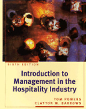 Introduction to Management in the Hospitality Industry by Tom Powers: Used
