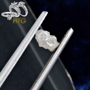 100% Natural 1.00 Carats White-Greyish Opaque 4.00mm Rough 1 Diamond Lot