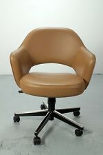 Knoll International Executive arm chair, Premium Sabrina leather shivel base