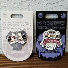 Disney Parks 2020 Epcot Food & Wine Festival Pins Mickey Minnie Mouse Passholder