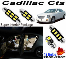 12 Bulbs Super White LED Interior Dome Light Kit For Cadillac Cts 2003~2007 Lamp
