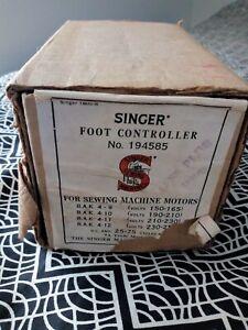 Vintage Singer Foot Controller Original Box for Sewing  Machine