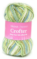 4 Skeins of Sirdar Snuggly Baby Crofter DK Knitting Yarn Color #156 (Green)