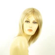 Perruque femme mi-longue blond doré méché blond très clair YRIS 24BT613