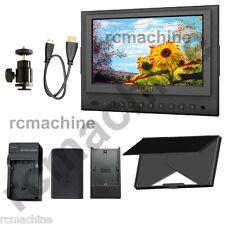 "Lilliput 7"" 5D-II/O/P HDMI Monitor LP-E6 Battery PEAKING, Zebra Exposure Filter"