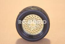 RC 1/10 CAR TIRES WHEELS RIMS PACKAGE  TAMIYA HPI TRANS AM GOLD MESH SEMI SLICK