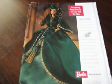 Mattel Barbie SCARLETT O'Hara Doll Ad / Advertisement ONLY Gone with the Wind