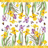 Foglio IN Carta Di Riso Fiori - Iris - Stamperia DFT057