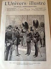 L'UNIVERS ILLUSTRE 1889 N 1782 MUSIQUE DE LA GARDE ROYALE BELGE A L'EXPOSITION