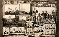 OLD PHOTO Vintage Postcard Commemorating The Hamstead Colliery Disaster