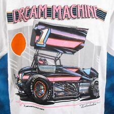 Nos vintage 80s Dream Machine Sprint Car Racing T-Shirt Large dirt track narc