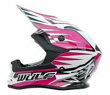 Wulfsport Cub Children Youth Junior Motocross ATV Enduro Trial Advance Helmet X-large Pink