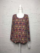 Lularoe Lynnae Top Shirt Size L, Multicolored Long Sleeve
