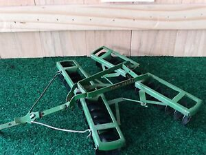 Vintage Eska John Deere Disc Harrow 1:16 Scale Diecast Toy Tractor Implement