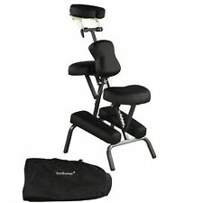 "New Quality Black 4"" Portable Massage Chair Tattoo Spa Salon w/ Free Carry Case"