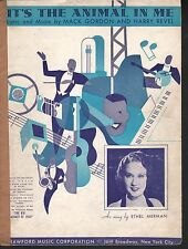 It's The Animal in Me 1935 The Big Broadcast of 1935 Ethel Merman Sheet Music
