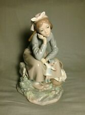 Girl With Doll - Lladro Porcelain Figurine C.1970'S