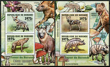 More details for burundi 2014 mnh fauna wild dogs hyenas 2x 2v deluxe m/s wild animals stamps