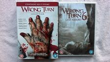 Wrong Turn COMPLETE COLLECTION 1,2,3,4,5,6 UK R2 DVD BOXSET RARE HORROR NEW GORY