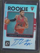 DENZEL VALENTINE 2016-17 DONRUSS OPTIC SILVER HOLO BULLS ROOKIE AUTO RC #46