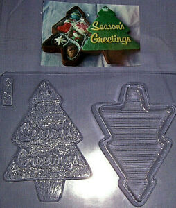 LARGE CHRISTMAS TREE ONE POUR BOX CHOCOLATE MOULD OR PLASTER MOULD