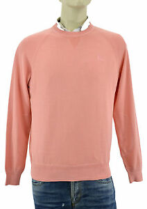 $550 BURBERRY Brit Pink Crewneck Mens 100% Cotton Sweater Size M NEW COLLECTION