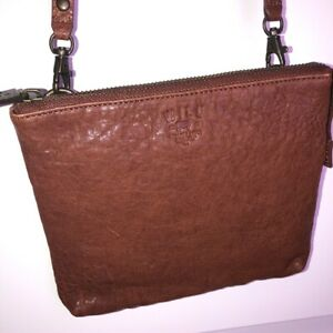 Will Leather Goods Brown Leather Crossbody Bag $159 Unisex Handcrafted USA EUC