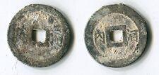 Vietnam Annam two Tu Duc zinc coins reverse Hanoi 河内