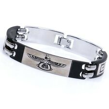Retro Genuine Eagle Titanium Bracelet Mens Bracelets For Men Jewelry Christmas