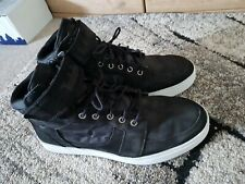 Timberland Men's Black Leather Trainers Boots Hi Tops - Size 8.5 UK 43 EU - VGC