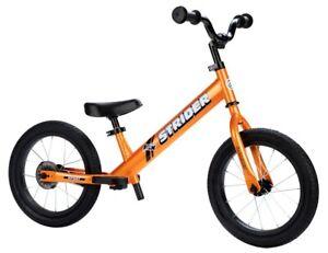 Strider 14x Sport Balance Bike Learn To Ride Pre Bike 3-7 Yrs. Totally Tangerine