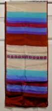 TERRIART Various Colored Stripes, Copper Tips 50x10 Lg Scarf-Vintage ANNE KLEIN