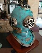 Rare Antique Diving Divers Helmet US Navy Mark V Scuba Marine Boston Heavy Helm