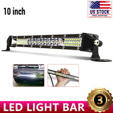 10inch 544W LED Light Bar Spot Flood Combo Work SUV Boat Driving Offroad ATV 4WD