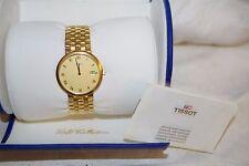 Tissot 18K 750 Solid Gold Swiss Men's Watch - Link Band - Original Box - EUC