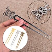 U Shape Retro Metal Hair Fork Hair Pin Hair Pick Square Hair Clip Hair Jewelry..