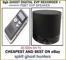 8GB EVP SPIRIT HUNTING DIGITAL RECORDER + GHOST PSB7 PARANORMAL SPEAKERS