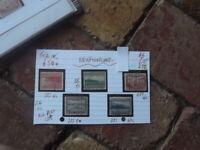 NEWFOUNDLAND 1943 STAMPS LOT OF 5  stamps G/U TO F/U