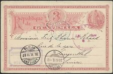 GUATEMALA 1907 3c postcard used to Switzerland.............................48945